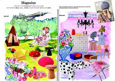 フランス・パリで生まれたキッズファッション&ライフスタイル雑誌MILK、日本版「ミルク ジャポン」のビジュアル制作