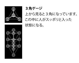 下から見て「三角形」が「パドマ」