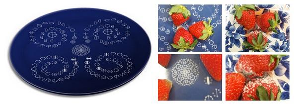イチゴ実験 皿