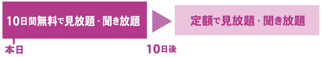 10日間ピンク見放題聞き放題横長